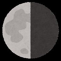 月の満ち欠けのイラスト4