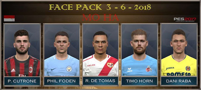 New Face Pack 03-06-2018 PES 2017