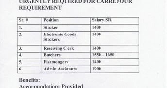 Urgently Required For A Carrefour Requirement Ksa Gulf Jobs For