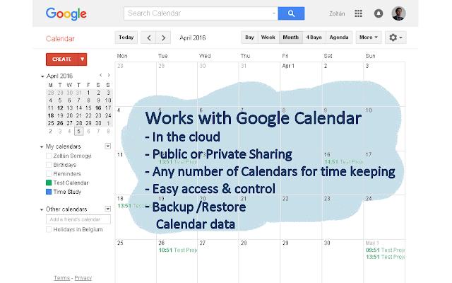 Time Study BPI Tools, Google Calendar