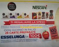 Logo Esselunga e Nescafè ti regalano la spesa: vinci 504 Gift card da 100€