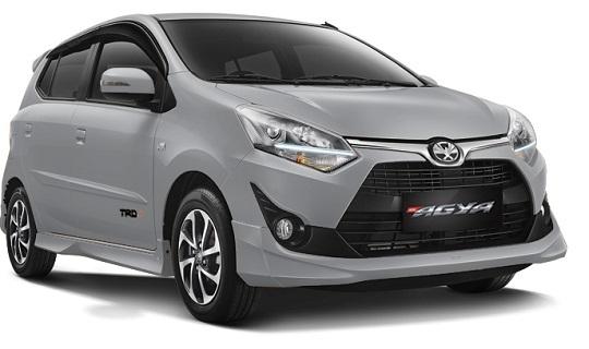 Eksterior Toyota Agya Tahun 2018