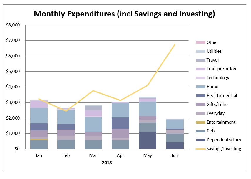 My early retirement journey - monthly expenses report