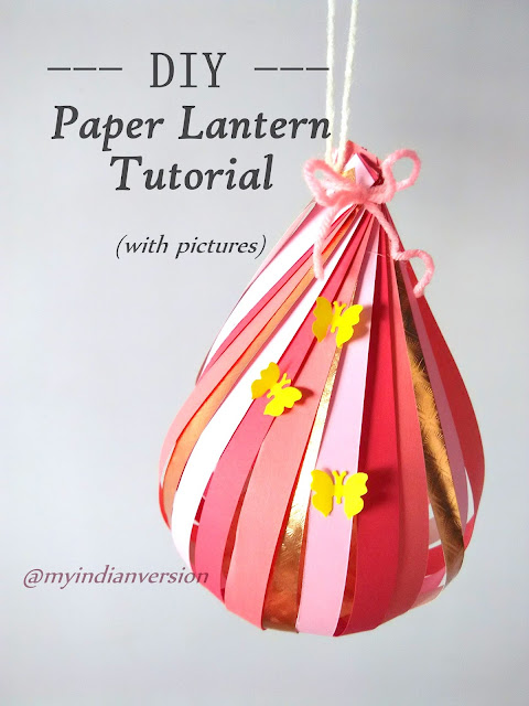 DIY : How To Make Paper Lantern : Photo Tutorial