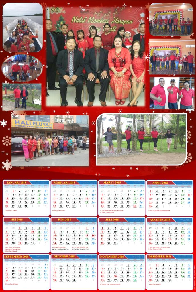 Jasa Desain Kalender 2018 menggunakan Background Foto ...
