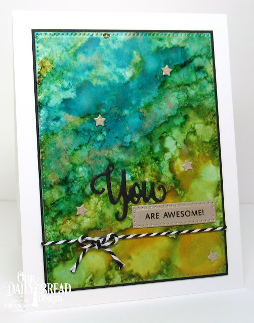 ODBD You Bless Me So Stamp/Die Duos, ODBD Custom Sparkling Stars Dies, ODBD Custom Pierced Rectangles Dies, Card Designer Angie Crockett