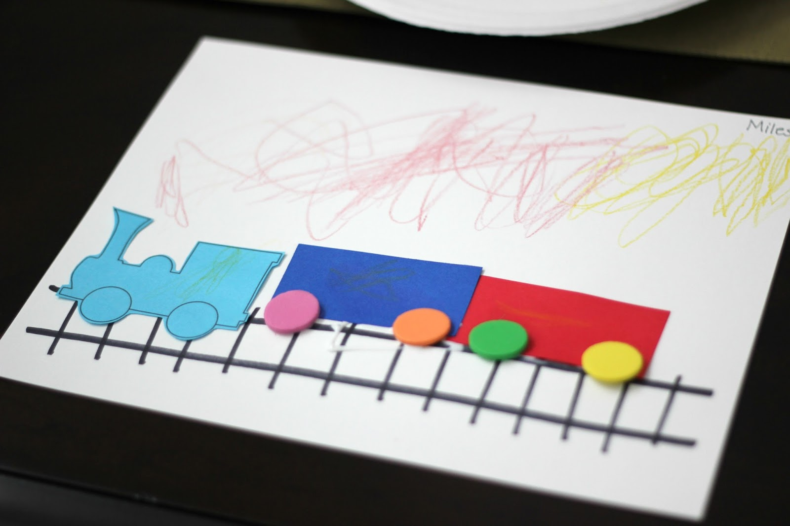 Shape Toddlers Train Craft
