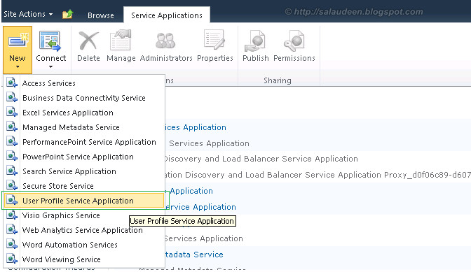 user profile synchronization sharepoint 2010 Create User Profile Service Application