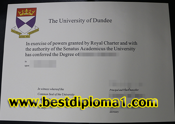 Buy fake Uni of Dundee certificate