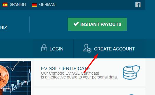 Регистрация в BtCenter