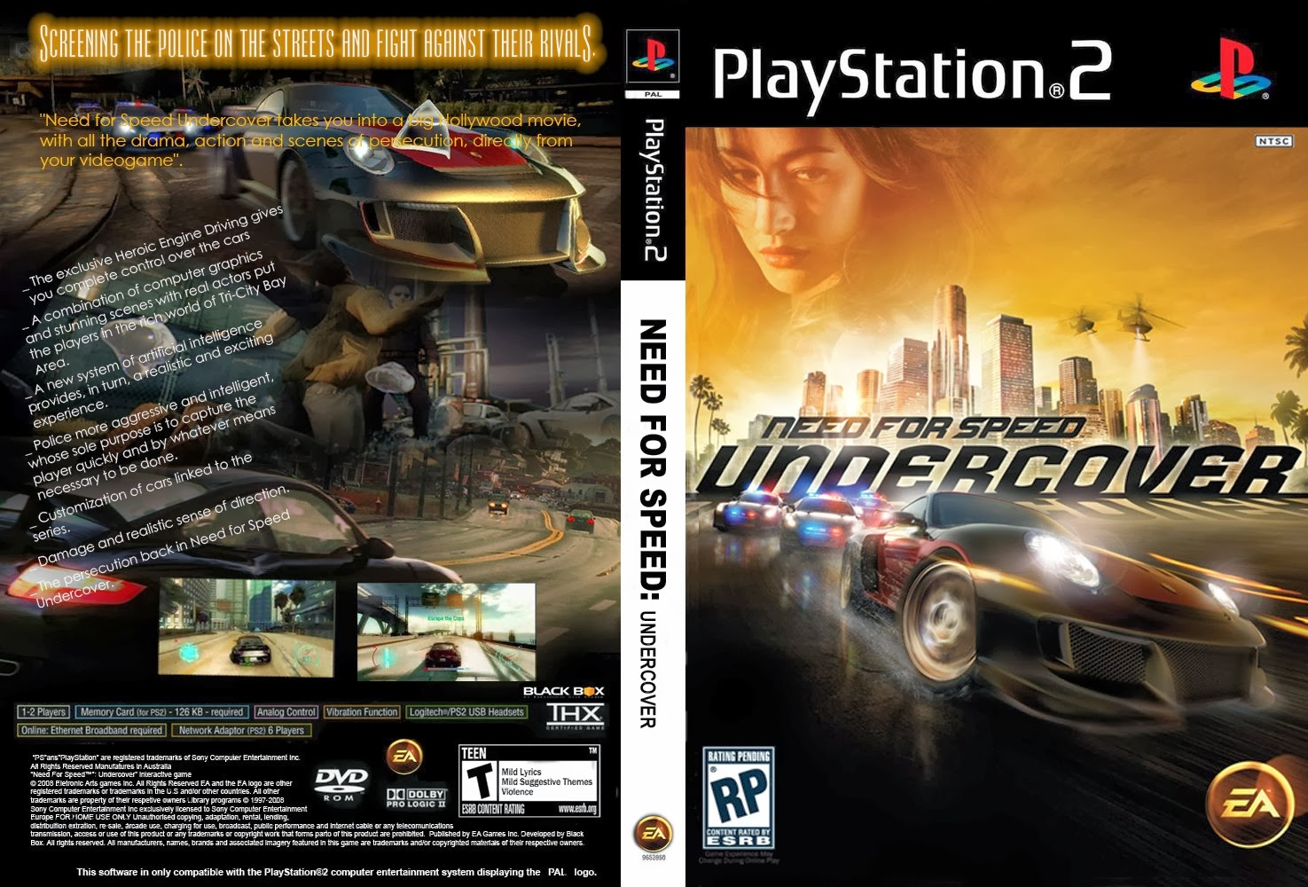 K And S Auto >> Need For Speed Undercover - Playstation 2 - Ultra Capas