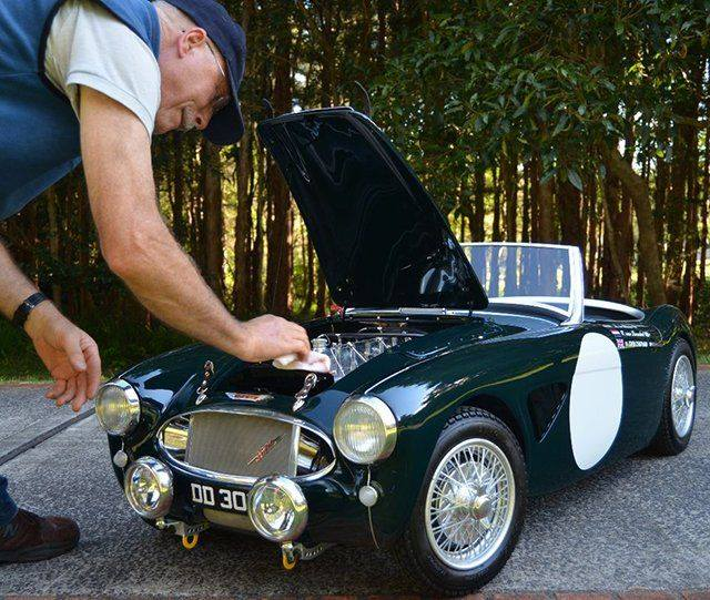 Just A Car Guy: 1/2 Scale Healey Made By Colin Rule, Who