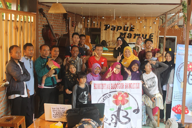 kopi darat komunitas blogger bengkulu di papuk mamuk