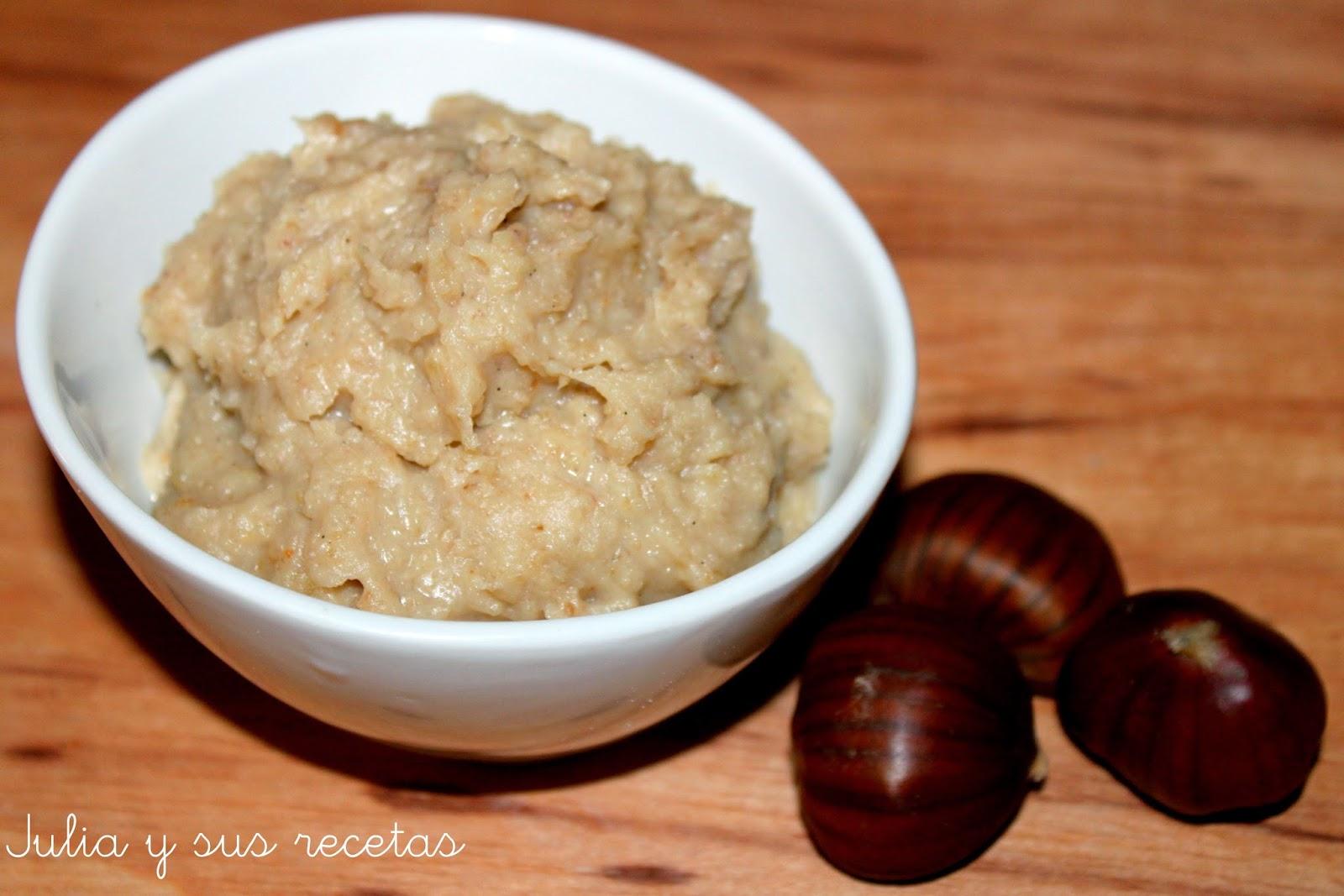 Crema dulce de castañas. Julia y sus recetas
