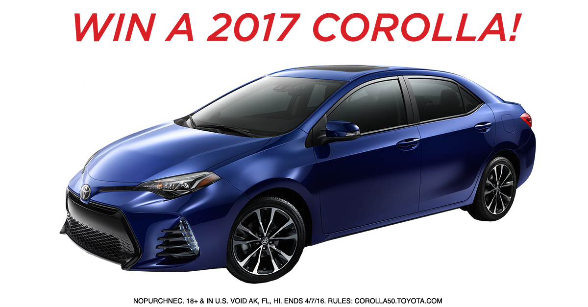 Win A Car: Mommytasking: Enter To Win A 2017 Toyota Corolla