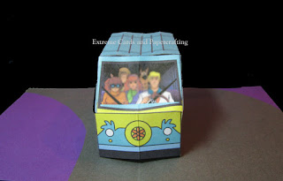 front view of van pop up card