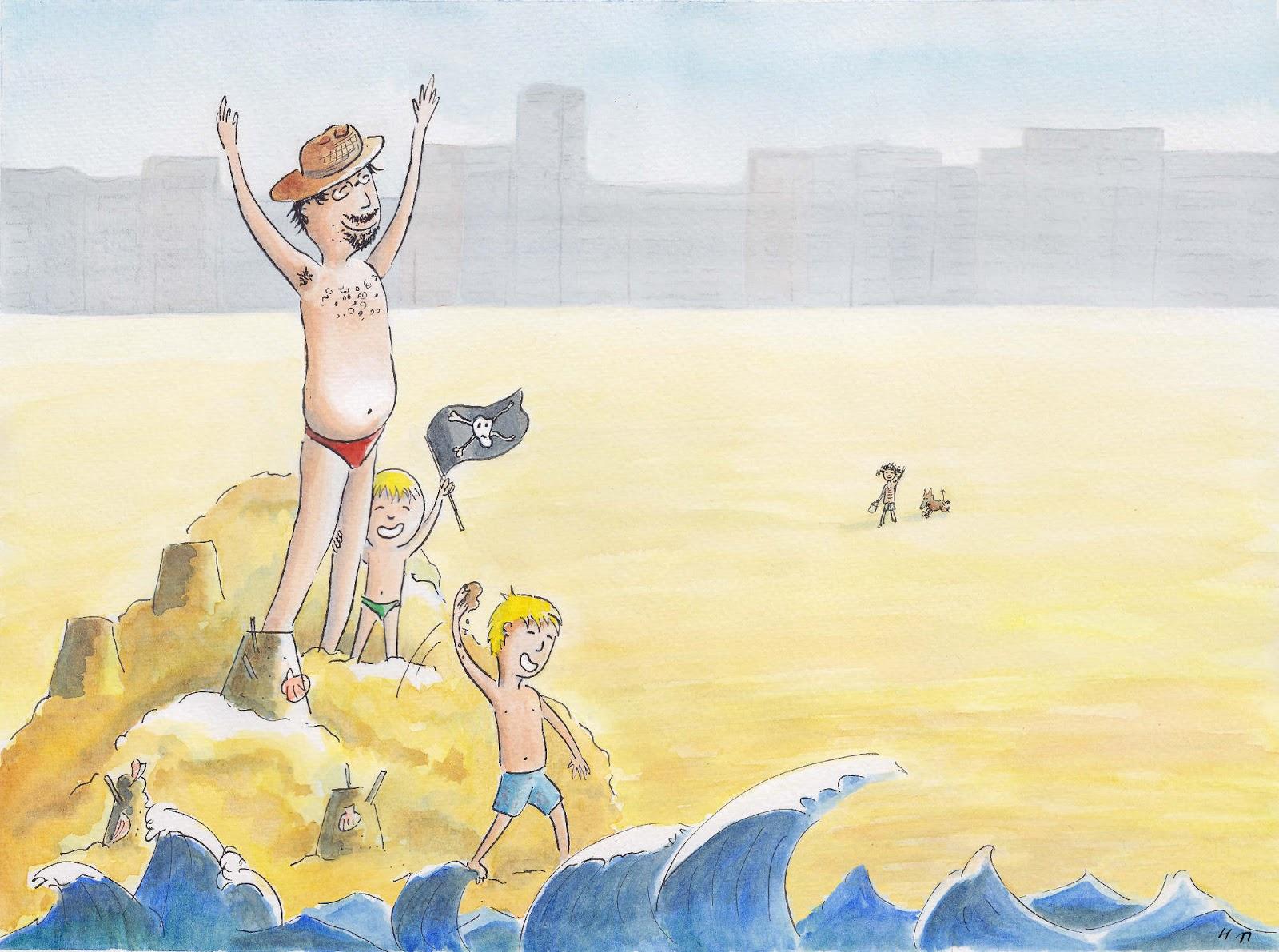 "illustration jeunesse vacance ""mer du nord"""