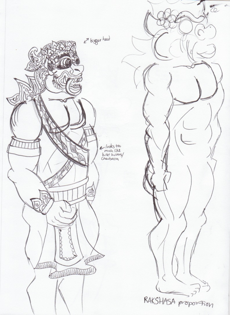Batuan Ramayana Project: Rakshasas (roughs)