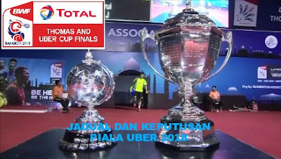 Jadual dan Keputusan Piala Uber 2018 Malaysia