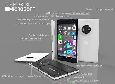 Microsoft windows lumia 950 Xl