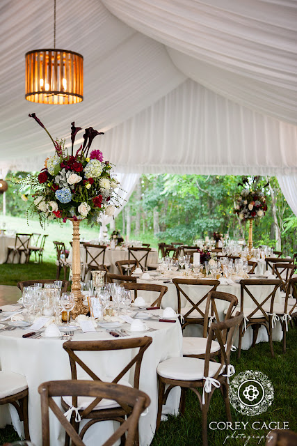 tented wedding reception | Corey Cagle Photography