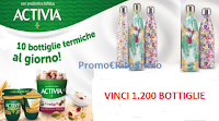 Logo Vinci 1200 Chilly's Bottle termiche da 500ml special edition con Activia!