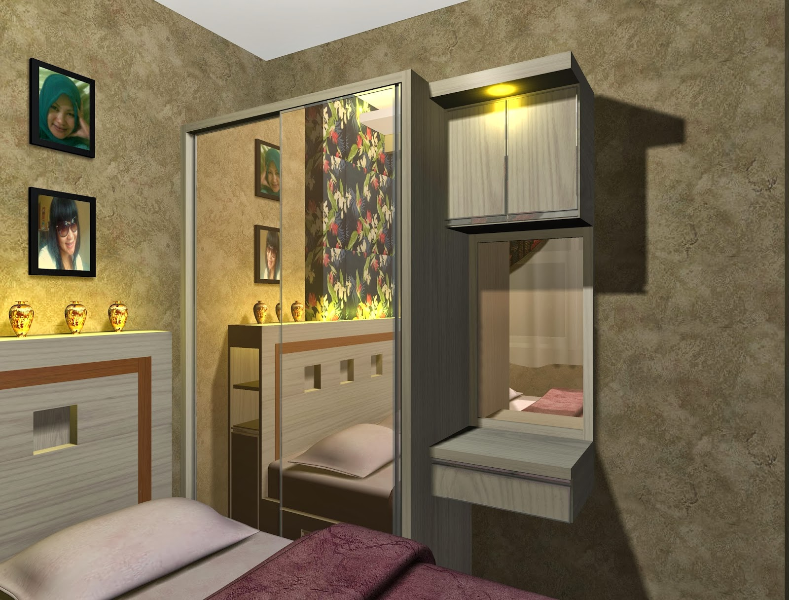 Contoh Desain Project Interior Kamar Apartemen Menteng Square
