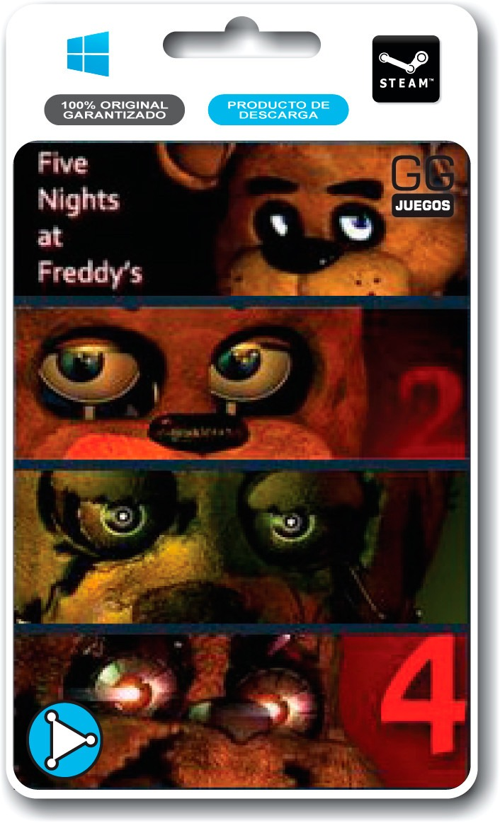 Descargar Five Nights at Freddy's 1, 2, 3 y 4 (Franchise Pack) [PC] [Full] [1-Link] Gratis [MEGA]