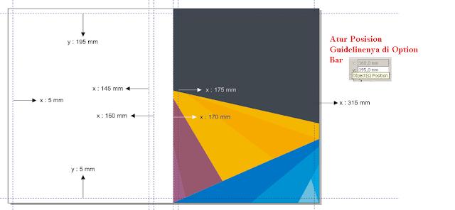 Cara Membuat Desain Cover Buku dengan CorelDRAW X4, fungsi dan cara menggunakan guideline di coreldraw