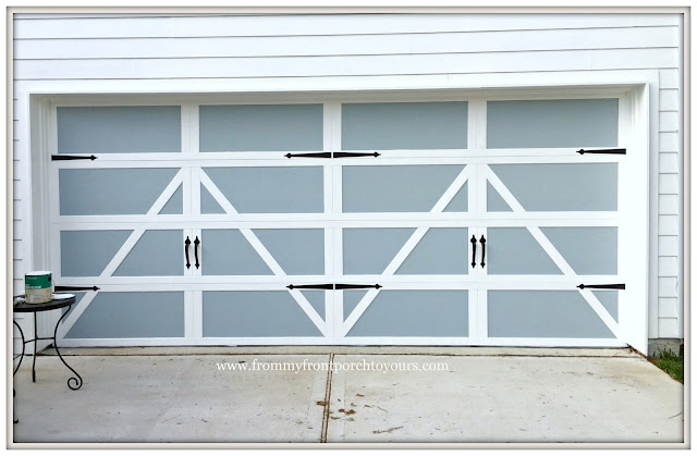 Garage Door Makeover-Detached Garage-Farmhouse-Paint-Curb Appeal-From My Front Porch To Yours