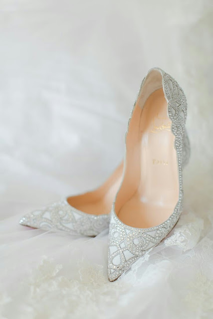 Wedding white shoes for bride