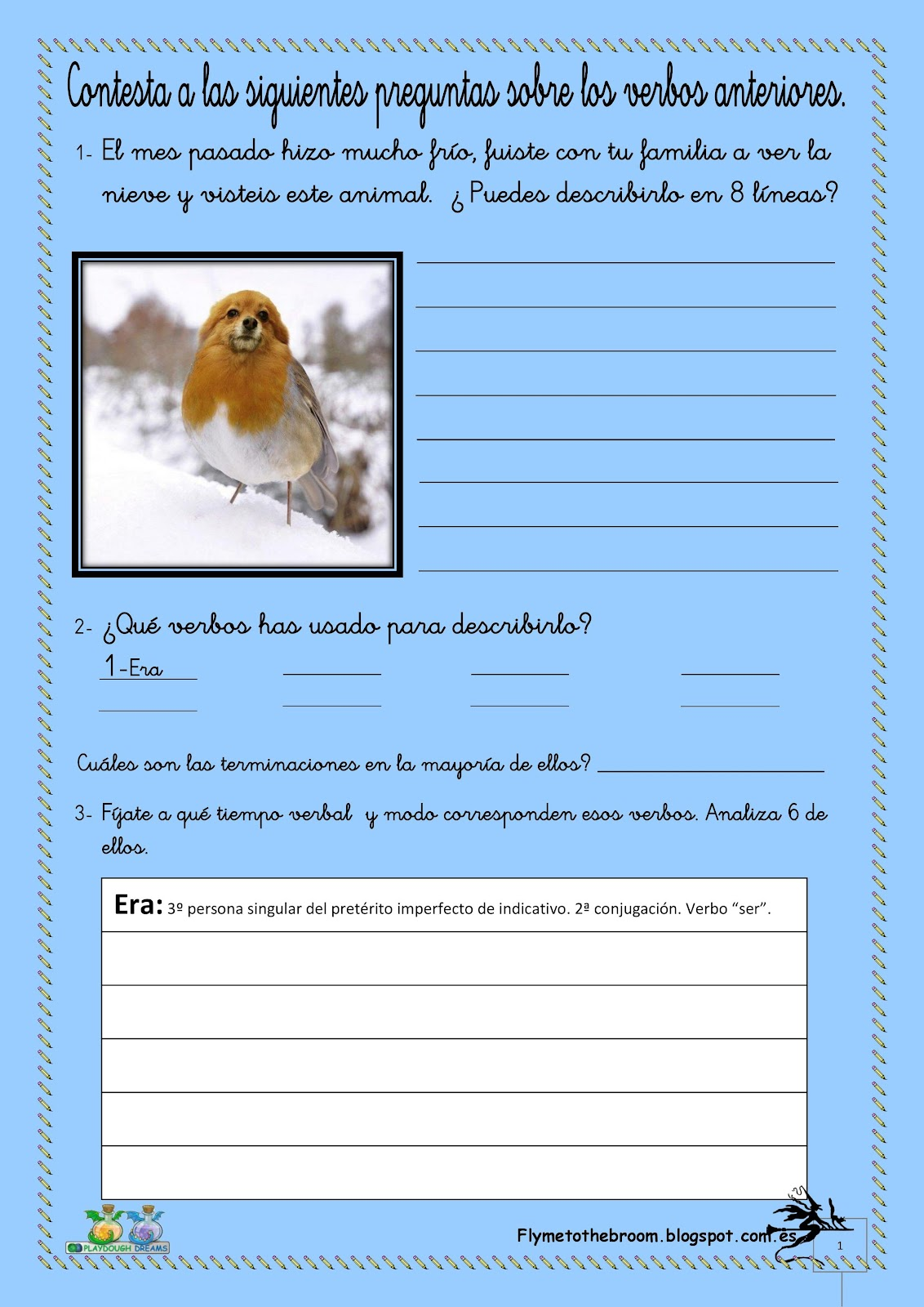 Fly Me To The Broom Verbos Modo Indicativo Worksheets