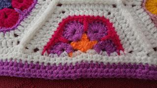 African flower hexagon baby blanket side