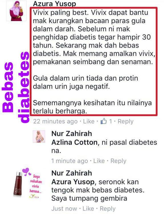 vivix bantu mak bebas diabetis