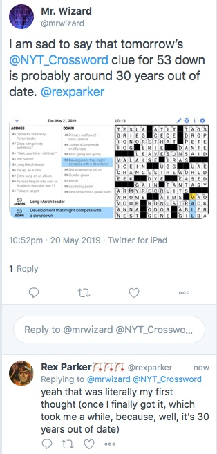 Rex Parker Ny Times Crossword Today : parker, times, crossword, today, Parker, Crossword, Puzzle:, Primary, Outflow, Geneva, 5-21-19, Automaker, Supercharger, Stations