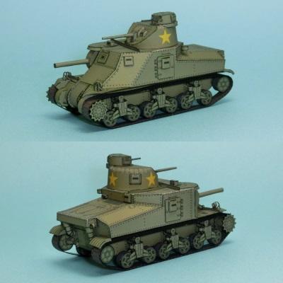 M3 Lee Tank Paper Model
