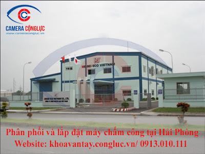 Phân phối và lắp đặt các sản phẩm máy chấm công cho doanh nghiệp tại KCN Nomura Hải Phòng.