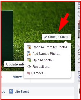 how to change your facebook cover photo