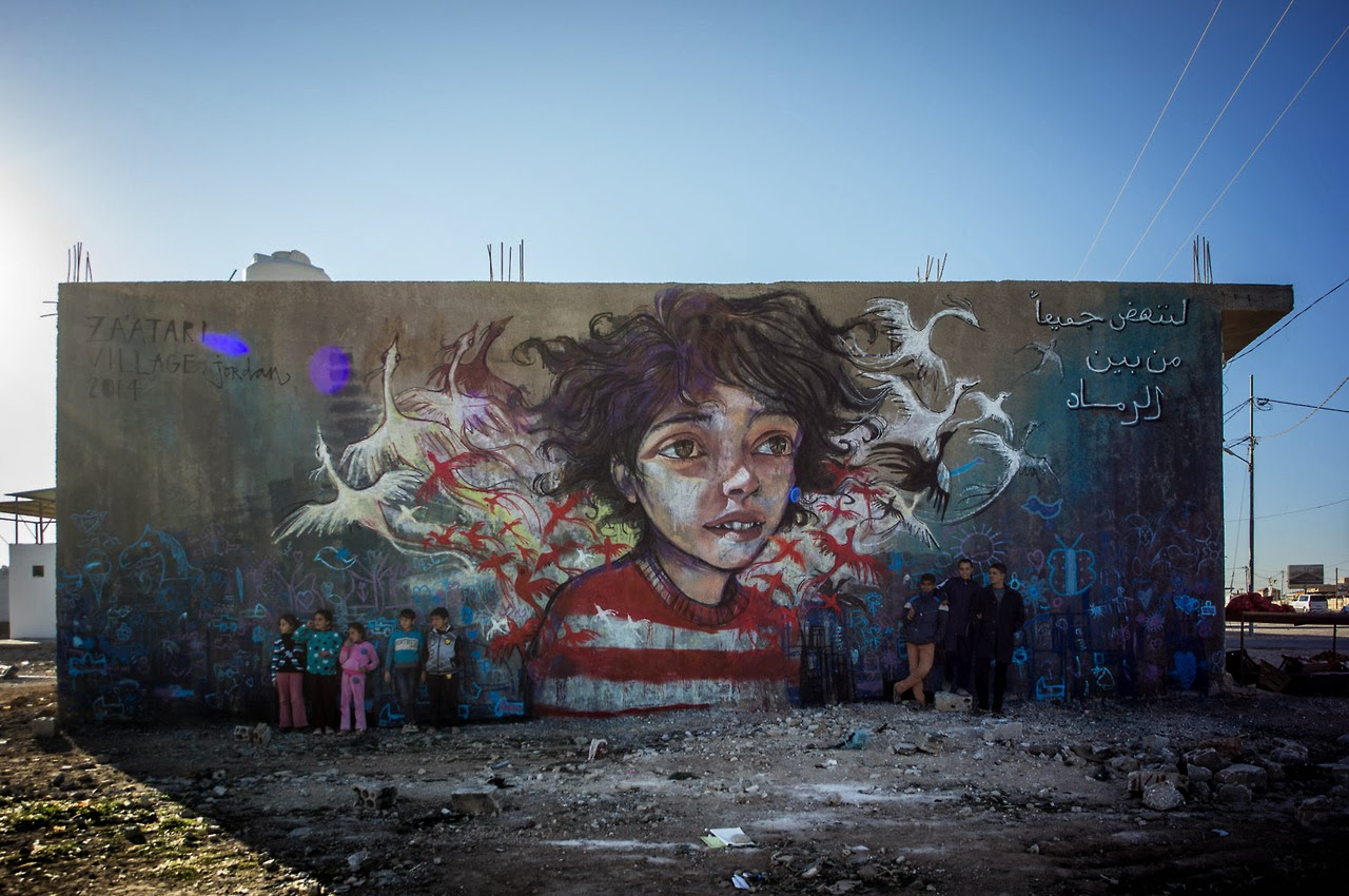 German Street Art duo Herakut are still in Jordan where they spent the last few days working on a new series of signature street pieces. 1