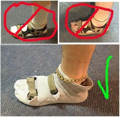Sandalen mit oder ohne Socken lustige Männerbilder im Sommer