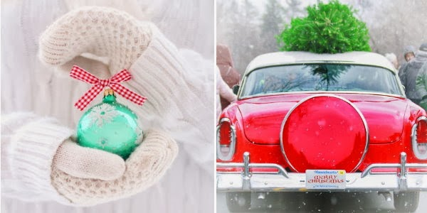 holiday mood board snow christmas