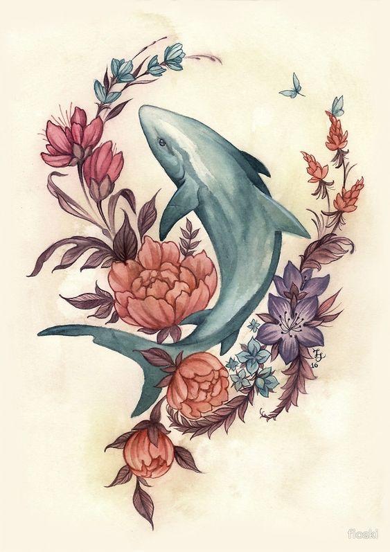 15 Lovely Shark Tattoo Designs For Women and Men