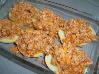 elaboración de patatas rellenas de carne