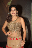 Jenny in brown transparent sleeveless anarkali dress at Shamanthakamani pre release function ~  Exclusive 014.JPG