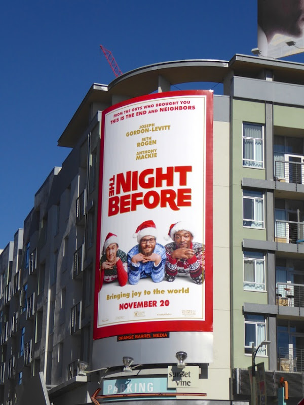 The Night Before movie billboard