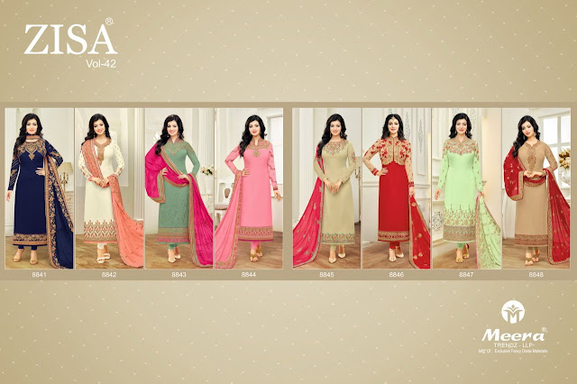 Zisa Vol-42 by Meera Trendz Full Catelog