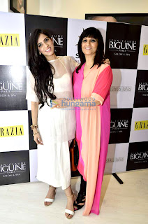 Sarah & Lisa at the launch of Jean - Calude Biguine Salon & Spa