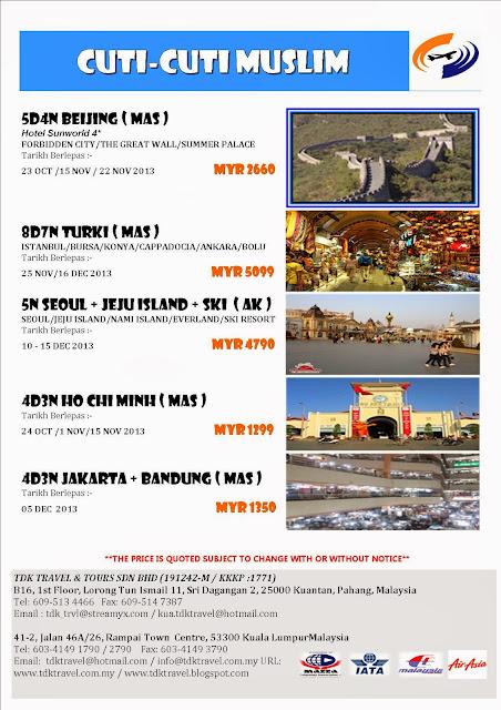 Cuti-cuti Muslim bersama TDK Travel & Tours