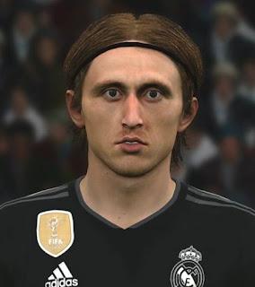 PES 2017 Faces Luka Modric by Ben Hossam FaceMaker