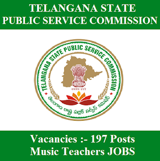 Telangana State Public Service Commission, TSPSC, TS, Telangana, PSC, Teacher, Music Teacher, Graduation, freejobalert, Sarkari Naukri, Latest Jobs, tspsc logo